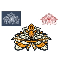 Persian paisley flower graphic design vector