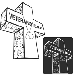 Veterans day sign vector