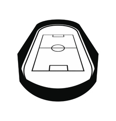 Open soccer field black simple icon vector