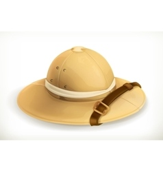 Pith helmet icon vector