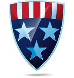 Shield with flag of the usa vector