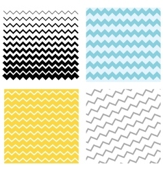 Set pattern zigzag vector