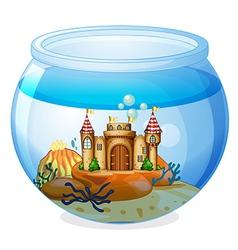 A castle inside the aquarium vector image