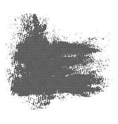 Black blob with halftone texture vector