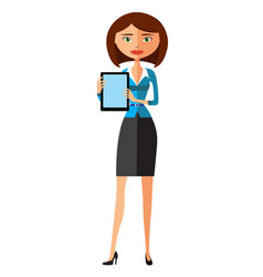 Business woman showing something important vector