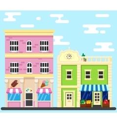 City street Building shop vector image vector image