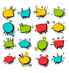comic collection empty cloud pop art vector image vector image