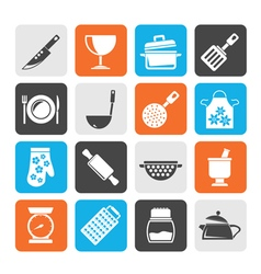Cooking Equipment Icons vector image