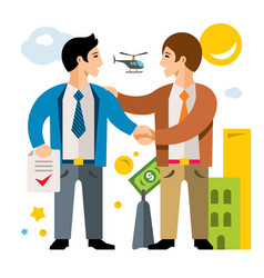 deal partnership agreement business vector image