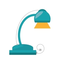 Desk lamp electronic appliance vector