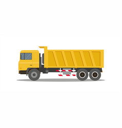 dump truck tipper on white background vector image