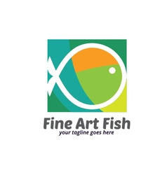 Fine art fish logo vector