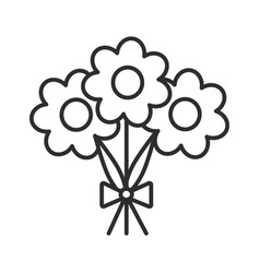flowers line icon sign on vector image