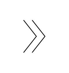 Forward line icon vector