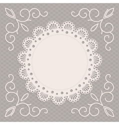 greeting card or wedding invitation with a napkin vector image vector image