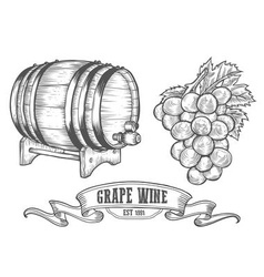 Hand Drawn Wine Icon Drawings vector image vector image