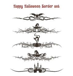 Happy Halloween Divider Set vector image vector image