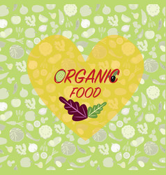 healthy organic vegetarian food background vector image vector image