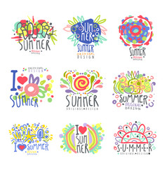 I love summer set original design summer travel vector