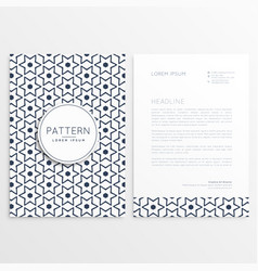 letterhead template with abstract flower pattern vector image vector image