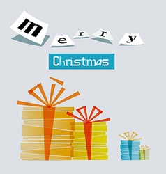 Merry Christmas Gift Boxes vector image