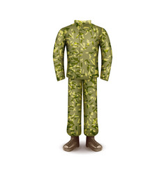 Military uniform isolated on white vector
