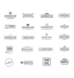 modern minimal business logos brand emblem vector image vector image