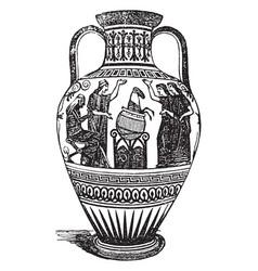 olla is a pot a jar vintage engraving vector image vector image