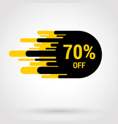 Sale sticker with hand drawn elements in yellow vector