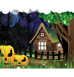 Scary monsters in the wood vector