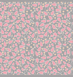 Seamless abstract pink flower vector