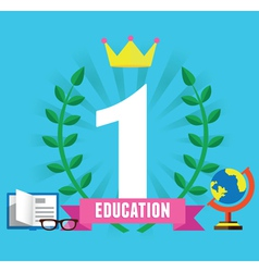 Success and education vector image