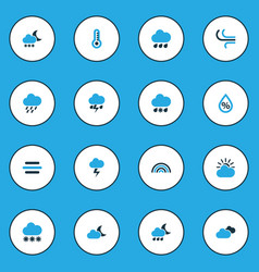 Weather colorful icons set collection of overcast vector