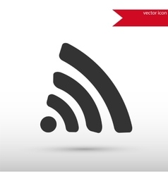 Wireless icon Flat design style vector image vector image