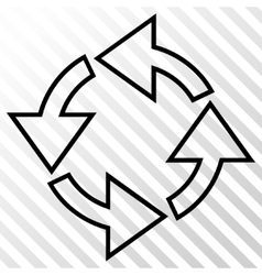 Rotation icon vector
