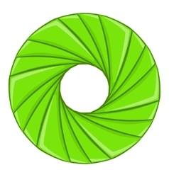 Green shutter icon cartoon style vector