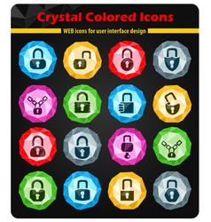 Lock icons set vector
