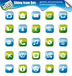 shiny icons  vector image