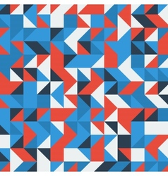 Set of a blue and red triangles as background vector