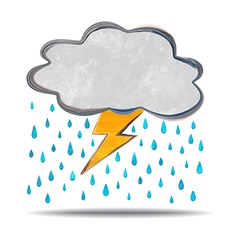 Climate cloud thunder and rain vector