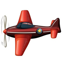A red vintage plane vector