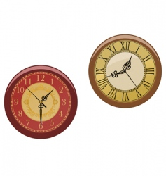 Ancient clocks vector