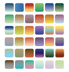 36 blank web gradient button vector image vector image