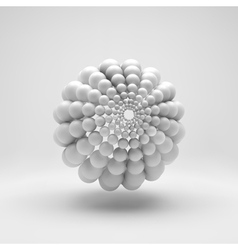 3d abstract spheres composition vector