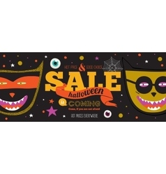 Bright halloween hot sale card vector