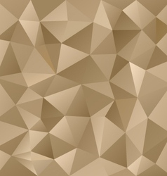 Gold metal beige triangular pattern background vector