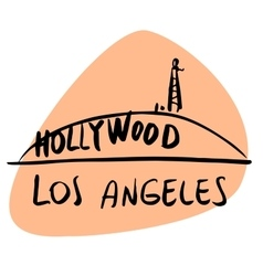 Los angeles california usa hollywood vector