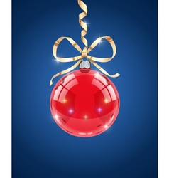 Glass ball decoration for vector