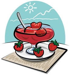Strawberries jam vector