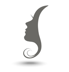Icon woman profile vector